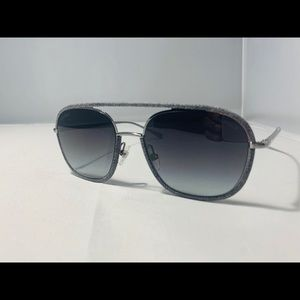 NEW $485!! CHANEL Pilot Gray Denim Sunglasses 4249